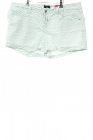 Gap Shorts weiß-hellgrün abstraktes Muster Beach-Look