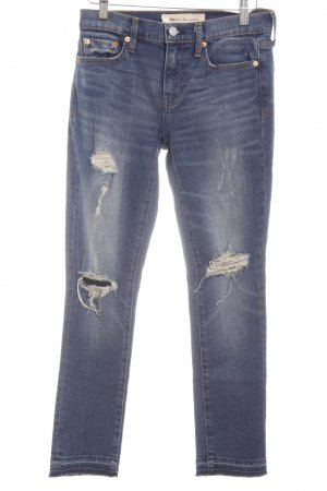 Gap Skinny Jeans blau Destroy-Optik
