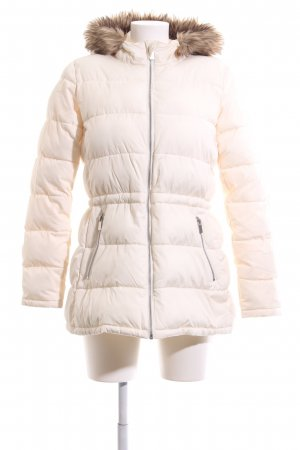 Gap Quilted Coat natural white quilting pattern casual look