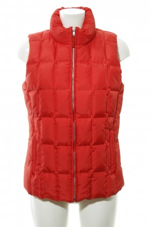 Gap Quilted Gilet bright red-orange quilting pattern casual look