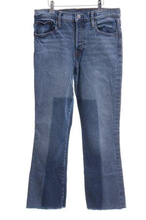 Gap Straight-Leg Jeans blau meliert Casual-Look