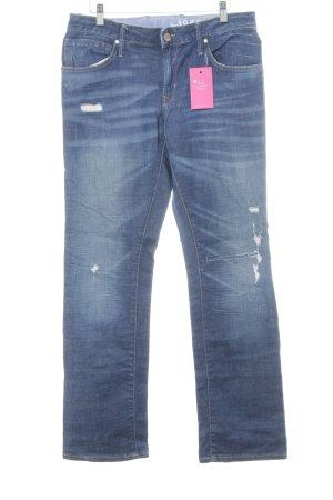 Gap Straight-Leg Jeans dunkelblau-kornblumenblau Casual-Look