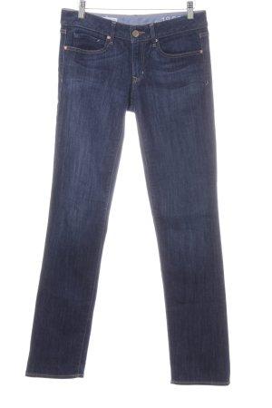 Gap Straight-Leg Jeans weiß-dunkelblau Casual-Look