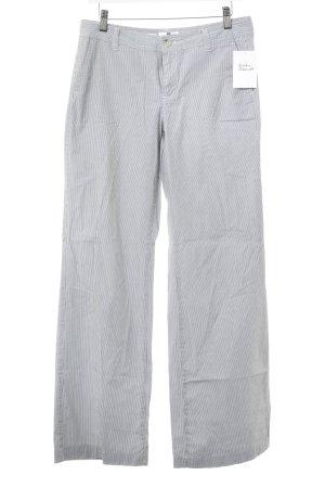 Gap Stretchhose weiß-grau Streifenmuster Casual-Look