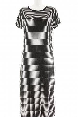 Gap Vestido elástico negro-blanco rayas horizontales Estilo playero