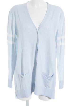 Gap Strick Cardigan babyblau-weiß meliert Casual-Look