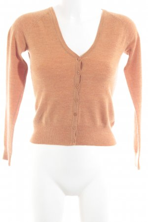 Gap Strick Cardigan hellorange-orange meliert Casual-Look