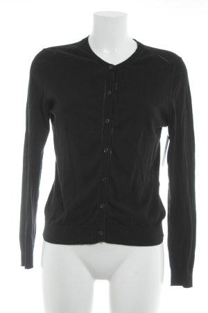 Gap Giacca in maglia nero Fori ornamentali