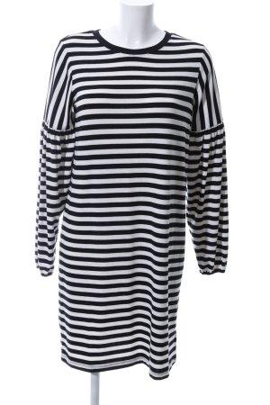 Gap Gebreide jurk wit-zwart gestreept patroon casual uitstraling