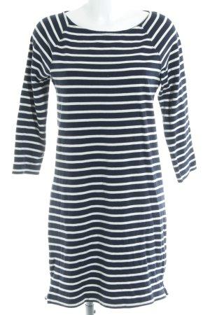 0856836799baa1 Gap Gebreide jurk wit-donkerblauw gestreept patroon casual uitstraling