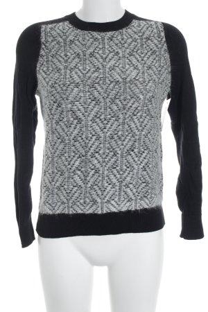 Gap Strickpullover schwarz-weiß abstraktes Muster Boyfriend-Look