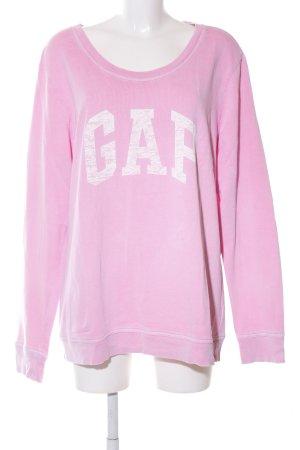Gap Sweatshirt pink Schriftzug gedruckt Casual-Look