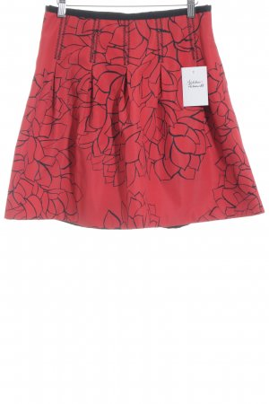 Gap Circle Skirt red-black floral pattern business style