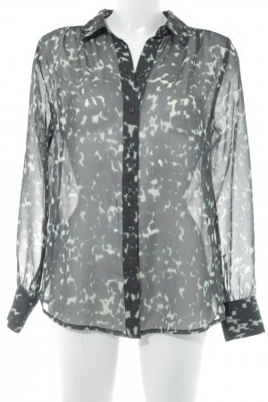Gap Transparenz-Bluse abstraktes Muster Casual-Look