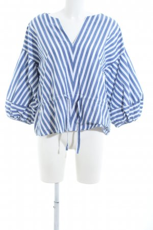 Gap Blusa de túnica blanco-azul estampado a rayas look casual