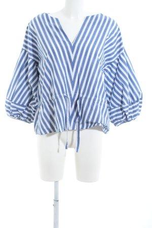 Gap Tunikabluse weiß-blau Streifenmuster Casual-Look