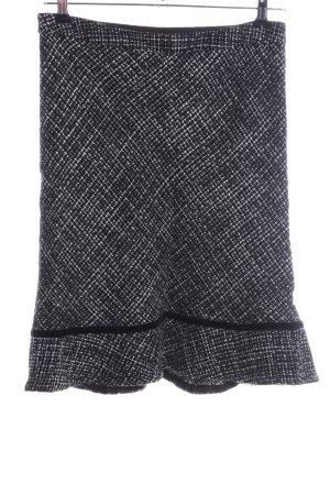 Gap Tweed rok zwart-wit volledige print zakelijke stijl