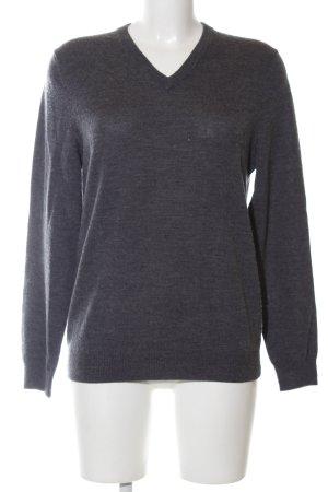 Gap V,Neck Sweater light grey flecked casual look