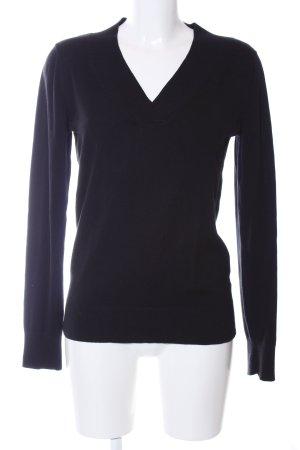 Gap V-Ausschnitt-Pullover schwarz Casual-Look