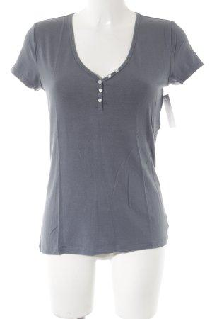 Gap V-Ausschnitt-Shirt graublau Casual-Look