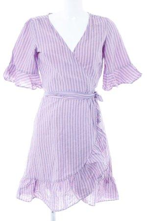 Gap Robe portefeuille rose-bleu pâle motif rayé style décontracté