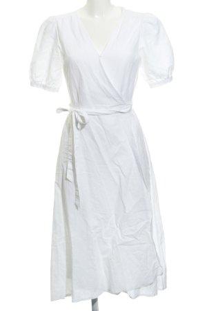 Gap Vestido cruzado blanco puro estilo medieval