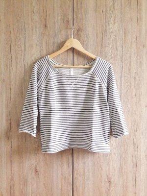 Crewneck Sweater white-dark blue