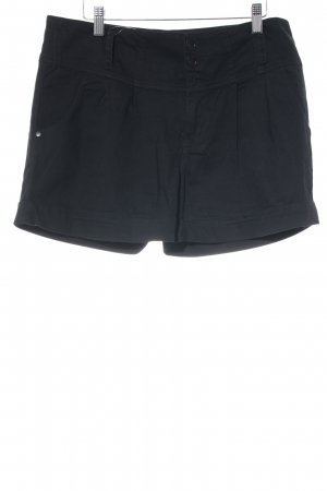 Garcia High-Waist-Shorts schwarz Casual-Look