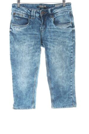 Garcia Jeans 3/4 Jeans stahlblau Casual-Look