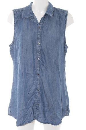 Garcia Jeans ärmellose Bluse blau Casual-Look