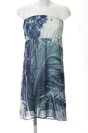 Garcia Jeans Bandeaukleid abstraktes Muster extravaganter Stil