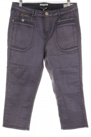 Garcia Jeans Hoge taille jeans grijs-paars casual uitstraling