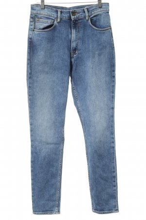 Garcia Jeans Hoge taille jeans staalblauw casual uitstraling