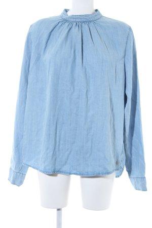 Garcia Jeans Blusa vaquera azul celeste look Street-Style