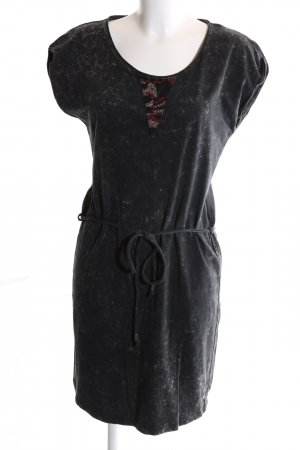 Garcia Jeans Jerseykleid schwarz meliert Casual-Look