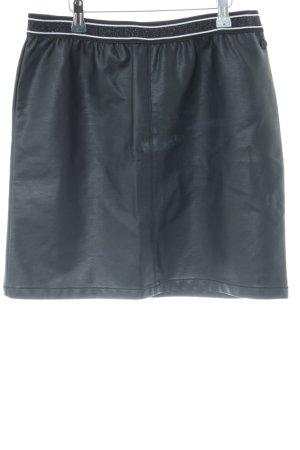 Garcia Jeans Rok van imitatieleder zwart casual uitstraling