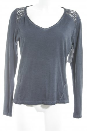 Garcia Jeans Longshirt dunkelblau Casual-Look