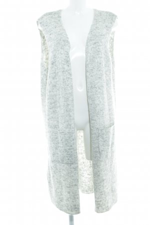 Garcia Jeans Long Knitted Vest light grey-natural white flecked casual look