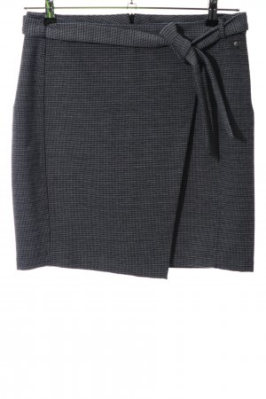 Garcia Jeans Mini rok zilver Webpatroon zakelijke stijl