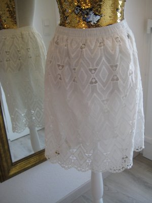 Garcia Jeans Lace Skirt white