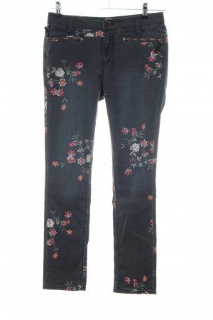 Garcia Jeans Slim Jeans Blumenmuster Casual-Look