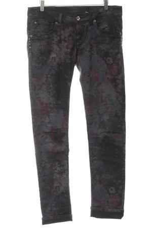 Garcia Jeans Slim Jeans flower pattern rockabilly style