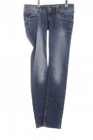 Garcia Jeans Slim Jeans blau Casual-Look