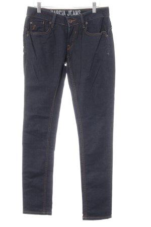 Garcia Jeans Slim Jeans dunkelblau Casual-Look