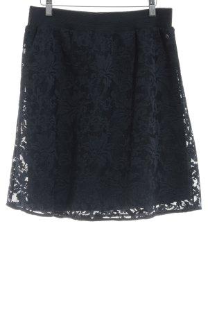 Garcia Jeans Spitzenrock dunkelblau Blumenmuster Romantik-Look