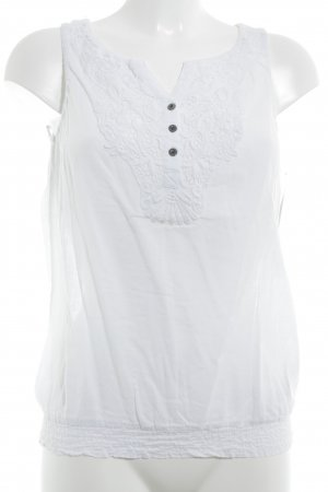 Garcia Jeans Lace Top white casual look