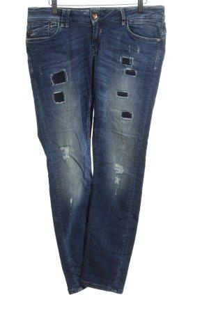 Garcia Jeans Straight-Leg Jeans blau Jeans-Optik