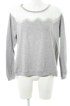 Garcia Jeans Strickpullover hellgrau-weiß Casual-Look