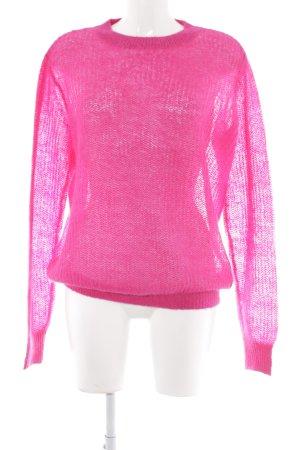 Garcia Jeans Strickpullover pink Kuschel-Optik
