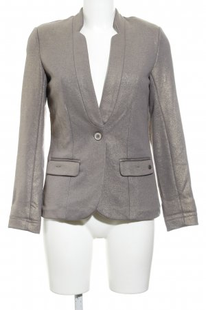 Garcia Jeans Sweat Blazer grey lilac-gold-colored wet-look